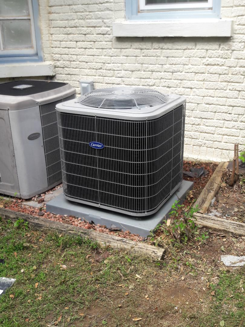 Installed new condenser for a family in Fort Worth.