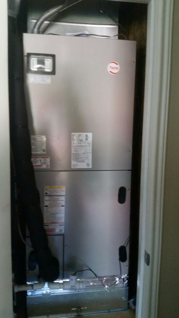 Burleson, TX - Installed new Payne 3 ton heat pump system or a family in Burleson.