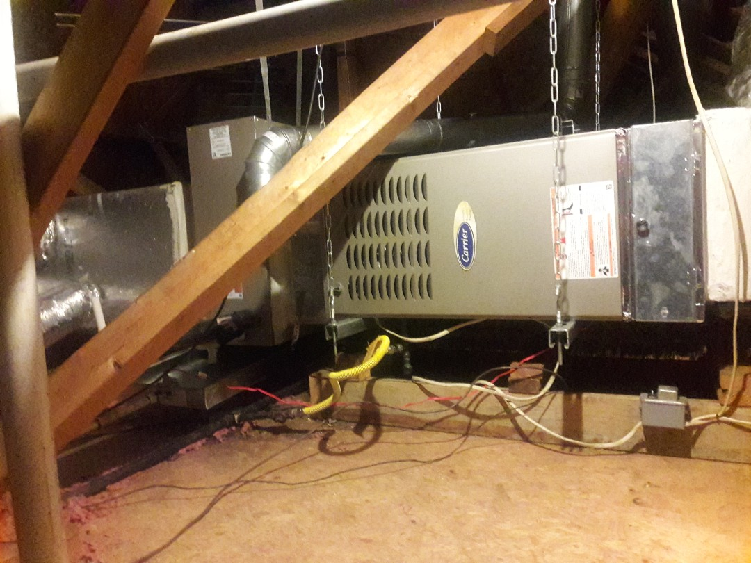 Colleyville, TX - finished installing a 4 ton unit and adding return.