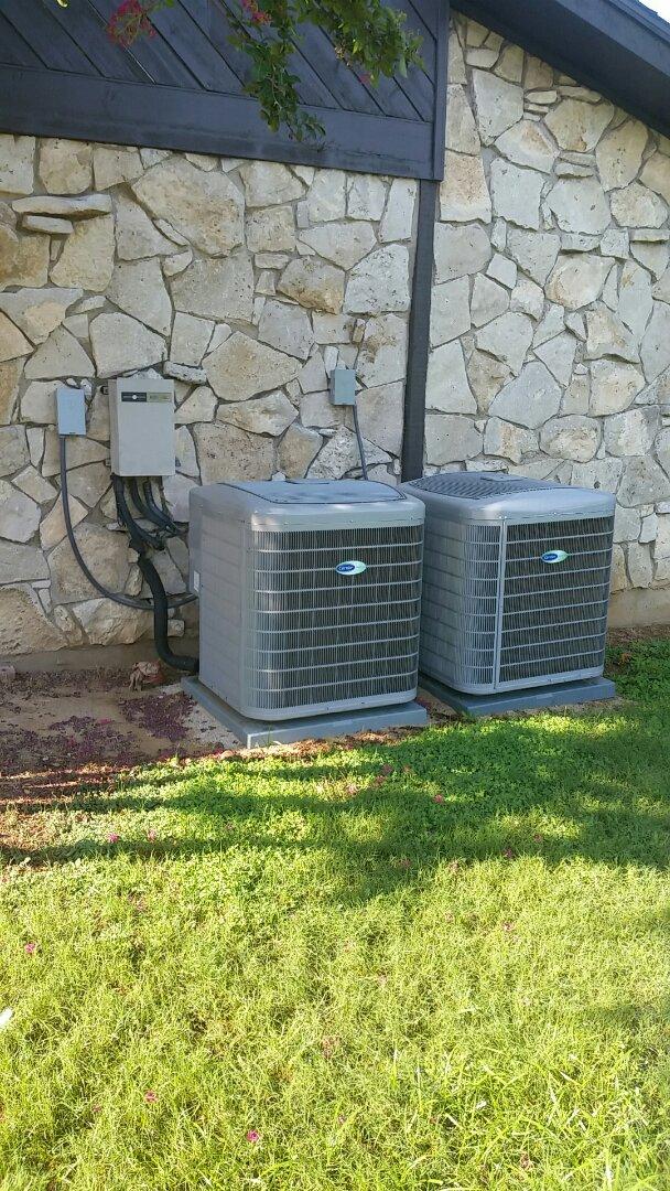 Arlington, TX - Installing a new 3 ton condenser for family in Arlington.