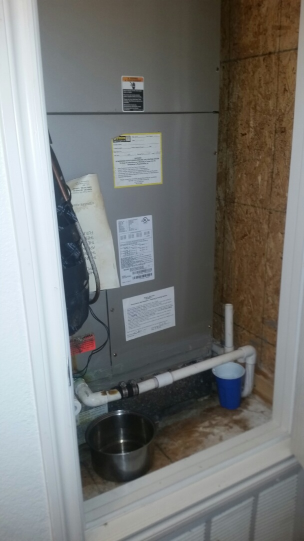 Justin, TX - Cleared clogged drain line for a home in Justin Texas.