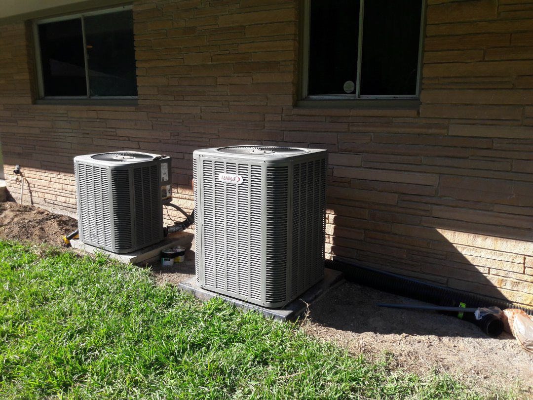 Aledo, TX - Relocated a condenser for a family in Aledo Texas.