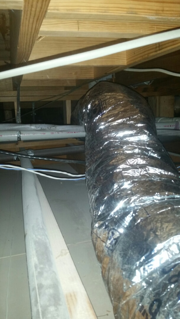 Arlington, TX - Install flexible ductwork at a residential remodeling Westover Hills.