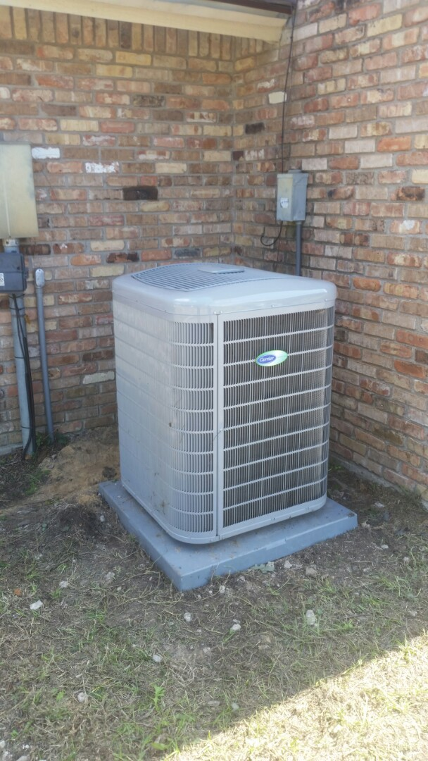 Burleson, TX - Relocated condenser at a residential remodel in Burleson.