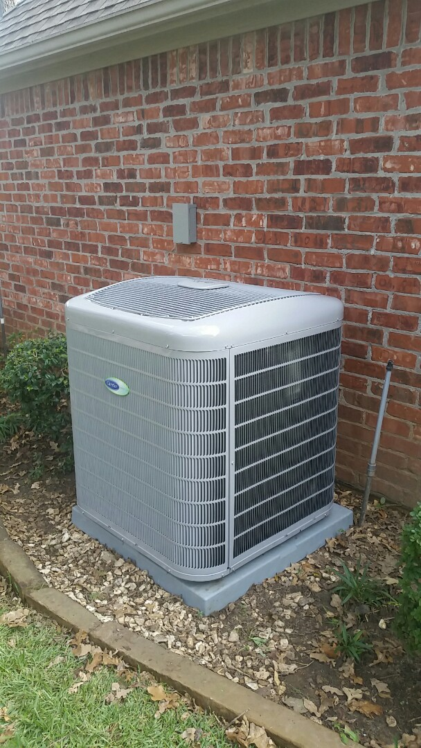 Colleyville, TX - Installed 4-ton Carrier Infinity condenser at a home in Colleyville.