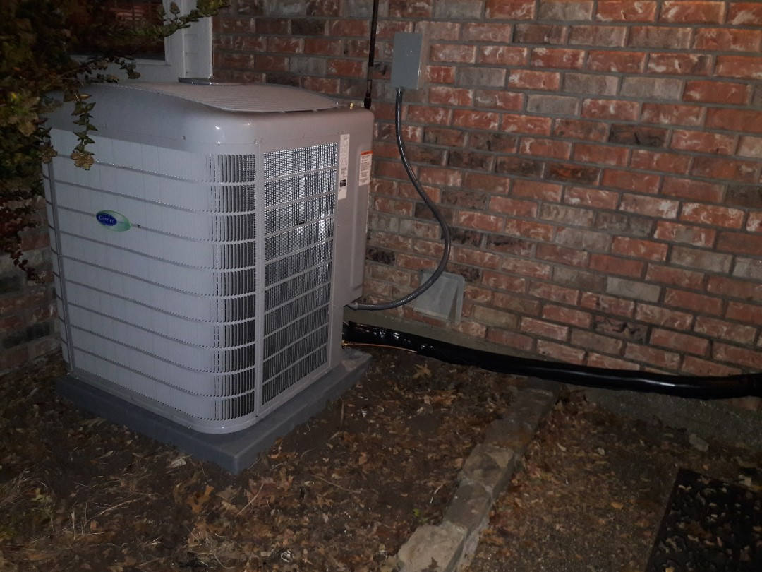 Colleyville, TX - Installed a 5 ton condenser for a family in Colleyville.