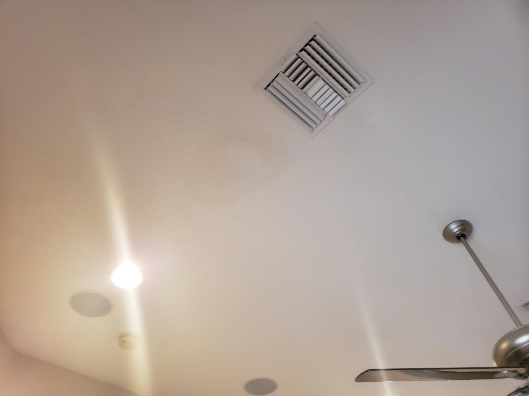 Naples, FL - Hurricane Irma caused interior damage to ceiling in house in Quarry when sideways rain blew into off ridge vent. We are helping this customer with his insurance claim.