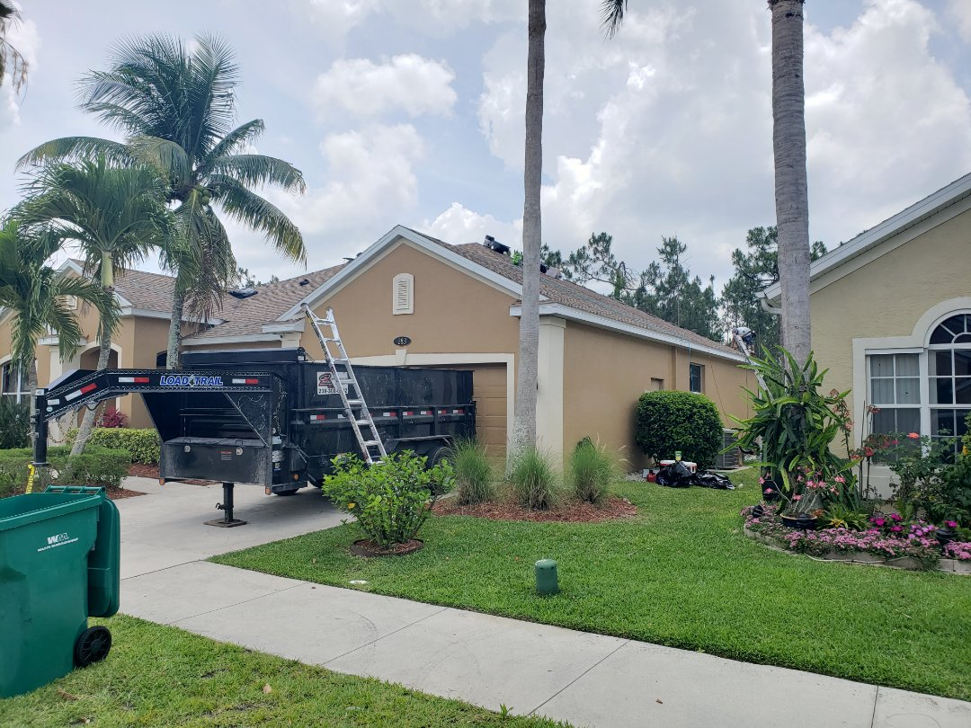 Naples, FL - Another clean and professional shingle roof replacement in Pebblebrooke Lakes. As a GAF Certified installer, we install GAF Timberline HD dimensional shingles over an Ice and Water barrier for a premium asphalt shingle system!