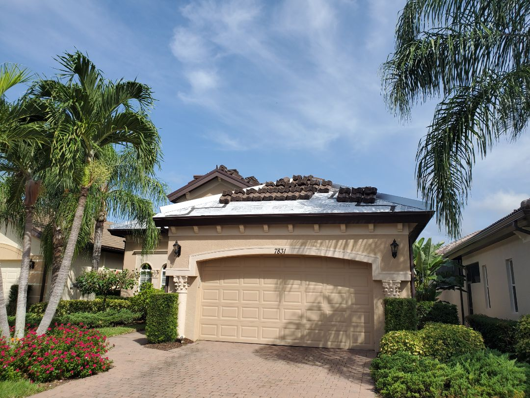 Naples, FL - Eagle Capistrano Cocoa Range concrete barrel tile loaded by our supplier and ready to complete another new roof in Naples!