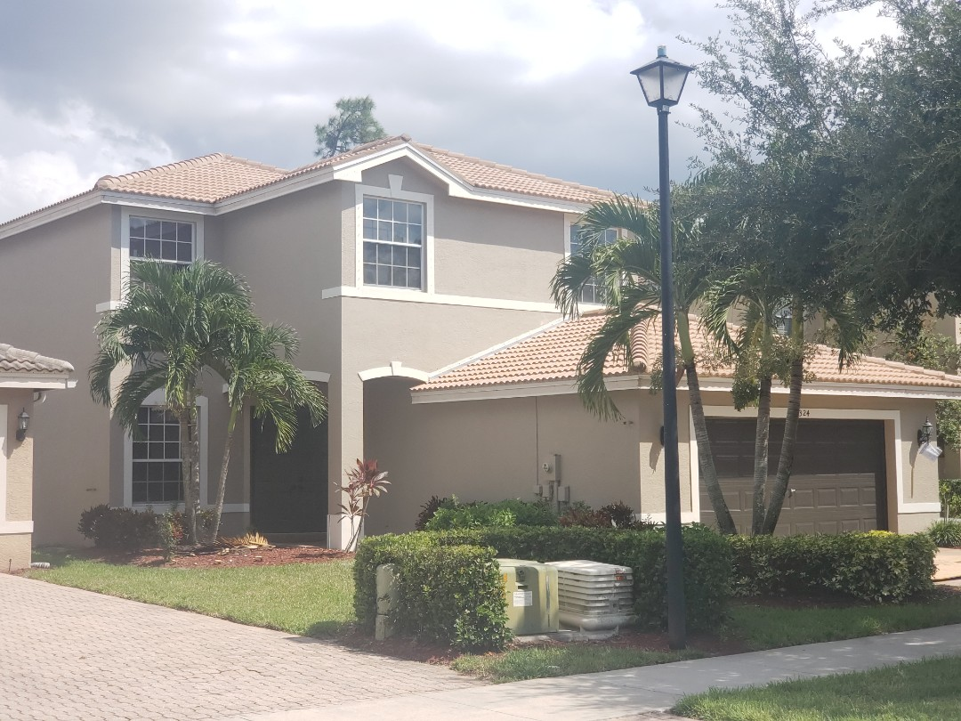 Naples, FL - A very clean installation with matching eaves closure turned this aging roof into a beauty! Eagle Malibu Boca Cream tiles installed with tile foam throughout the roof. We paid particular attention to the color of the mortar to match the tiles so it blends properly!