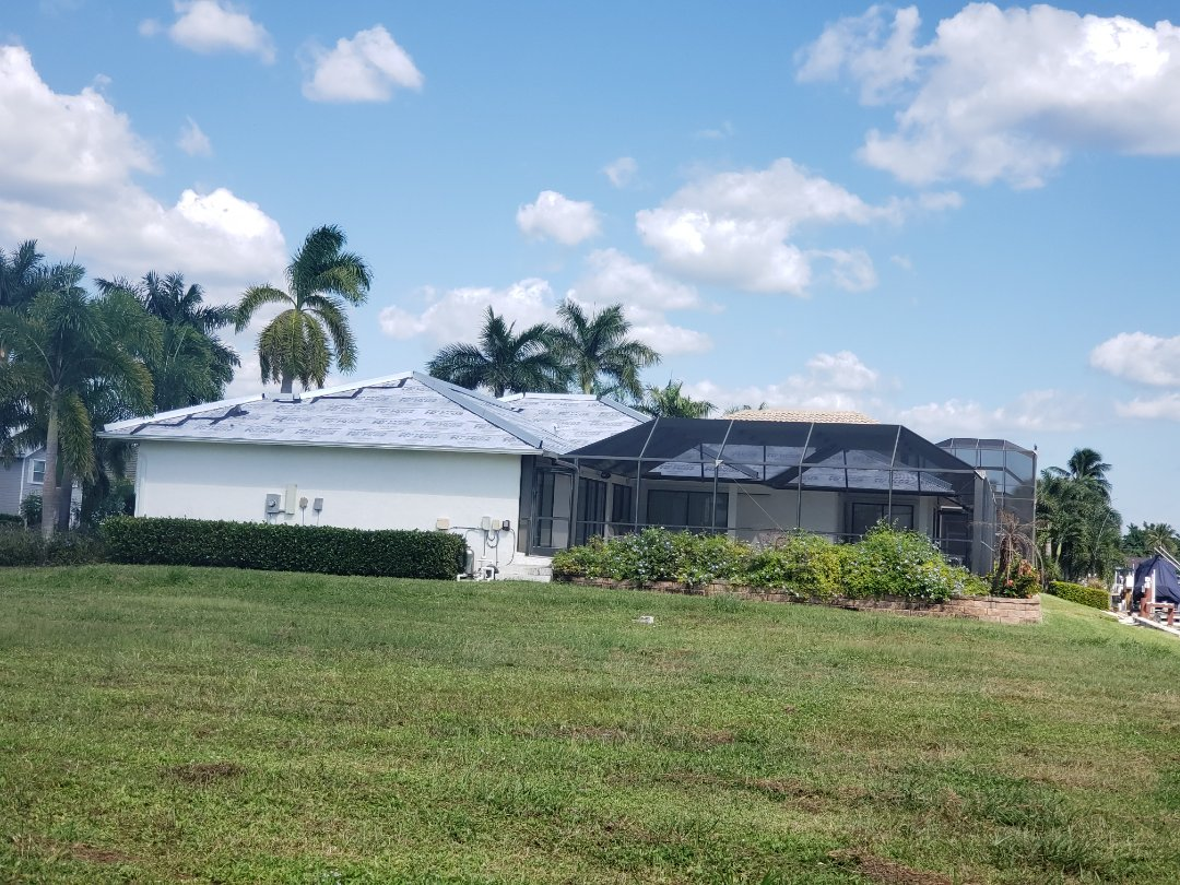 Marco Island, FL - A very clean tear off that Halo Roofing just finished in Marco Island. Polyglass Polystick TU Plus peel and stick secondary water barrier sealed with metal ridge risers installed to code. We are ready for the Boral Barcelona 900 S tiles to be delivered!