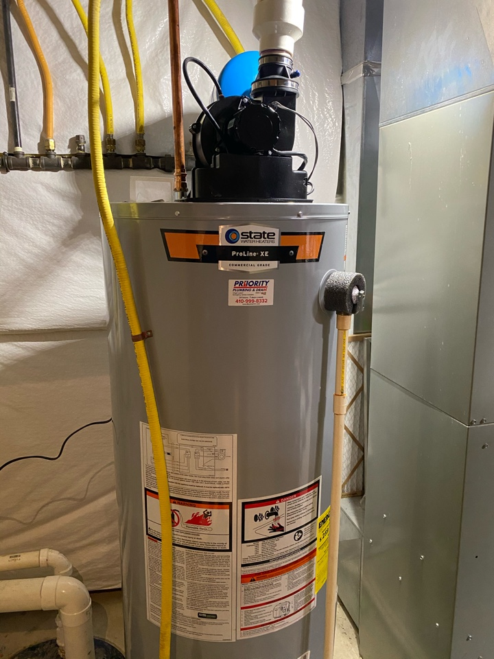 Ellicott City, MD - Replaced 50 gallon powervent water heater.