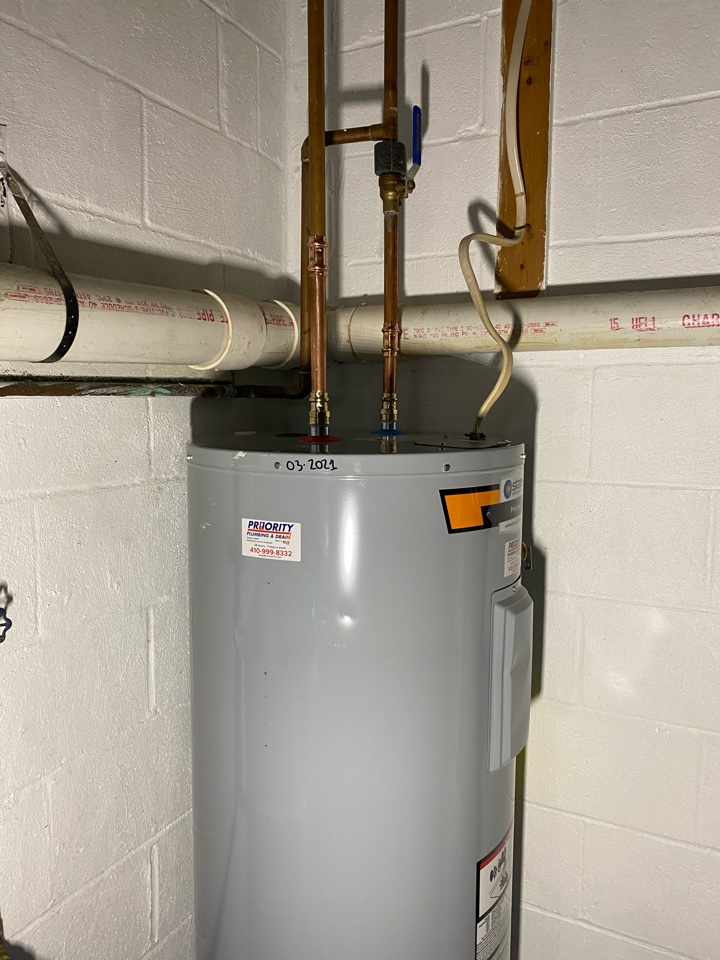 Annapolis, MD - Replaced 50 gallon electric water heater.