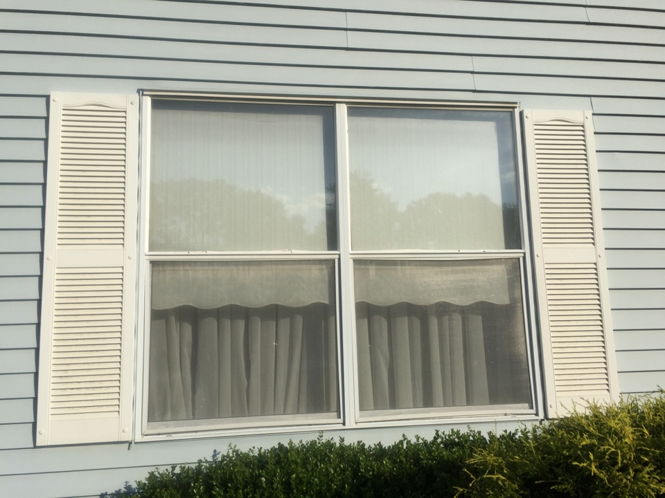 Monroe Township, NJ - Tired of $700 a month heating bills or summer discomfort when these solid aluminum frames reach temperatures of 125 degrees.   Problem solved with installation of Sunrise Manufacturing Sunrise series double hungs with high efficiency low-e glazing and argon fill is completed in a few weeks.   Custom sized for the openings, the consistent look of the townhouse's architectural committee will be conformed to.   Aluminum works for airplanes and ski lifts, but not for efficiency in residential windows