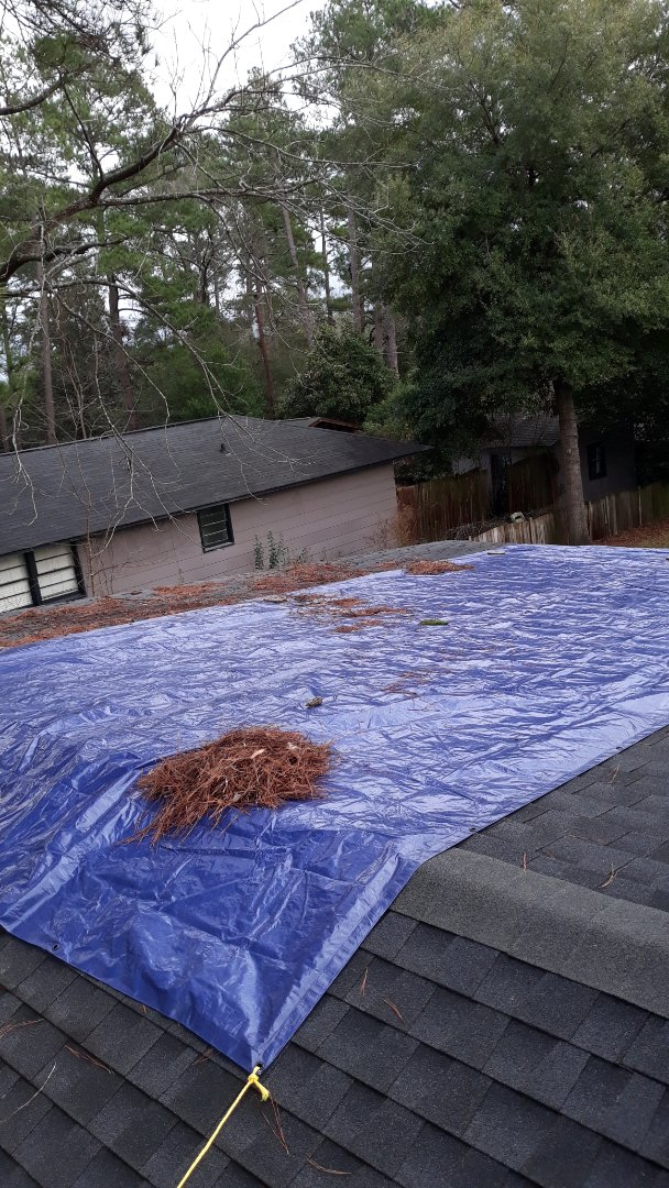 Columbia, SC - Roof tarp.