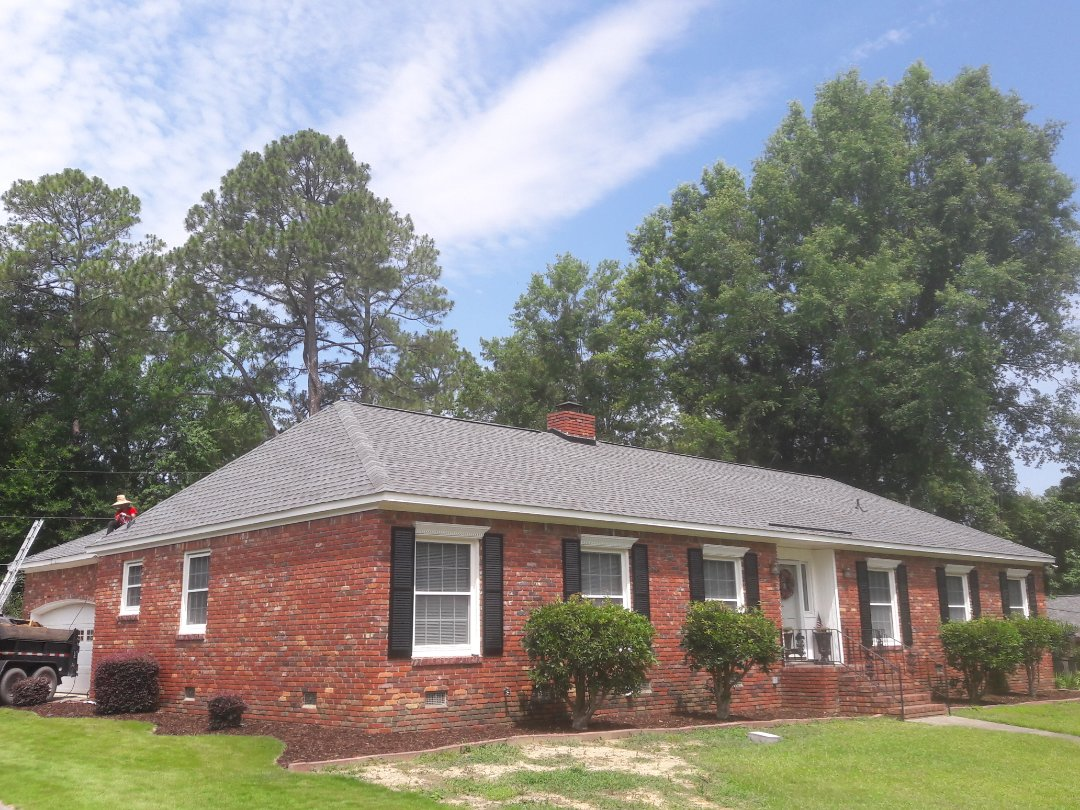 Columbia, SC - Finishing up a new roof in the Whitehall neighborhood.