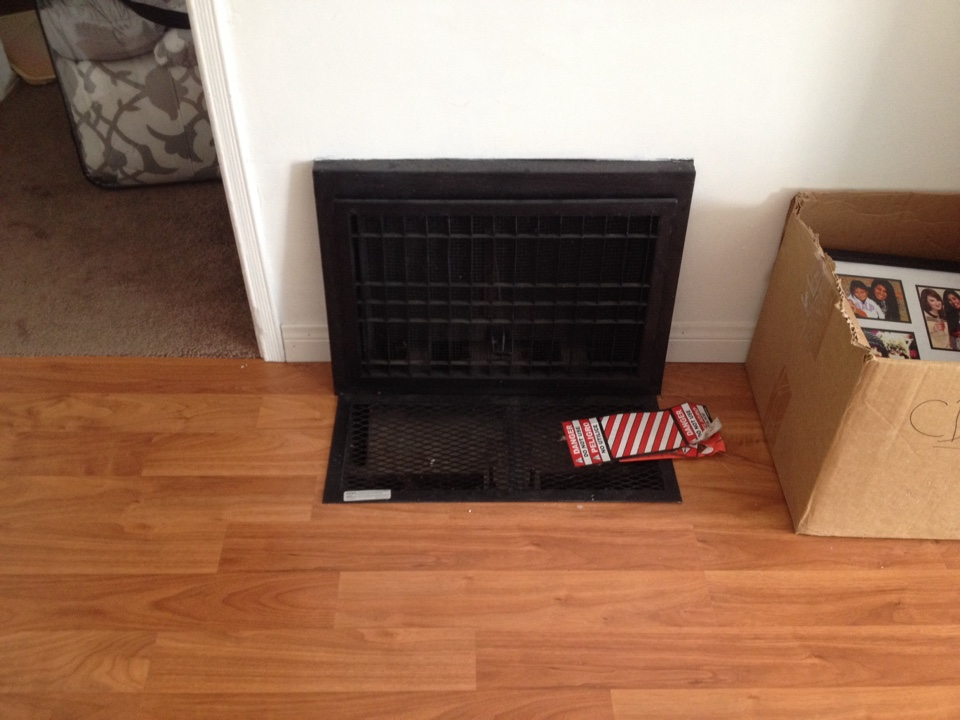 Burbank, CA - Inspection of floor heater