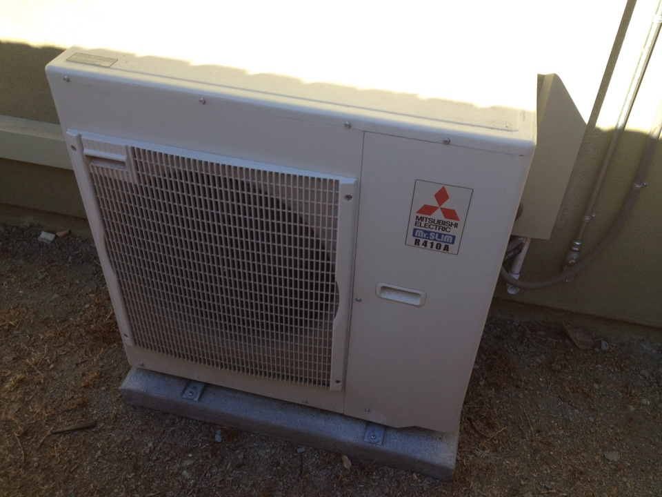 Burbank, CA - Maintance service on Mitsubishi mini split three zone and rheem central heating and cooling system