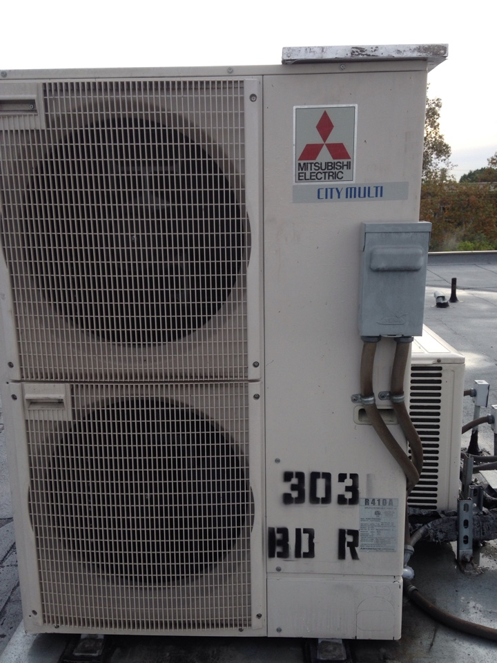 West Hollywood, CA - Maintenance service on Mitsubishi city multi