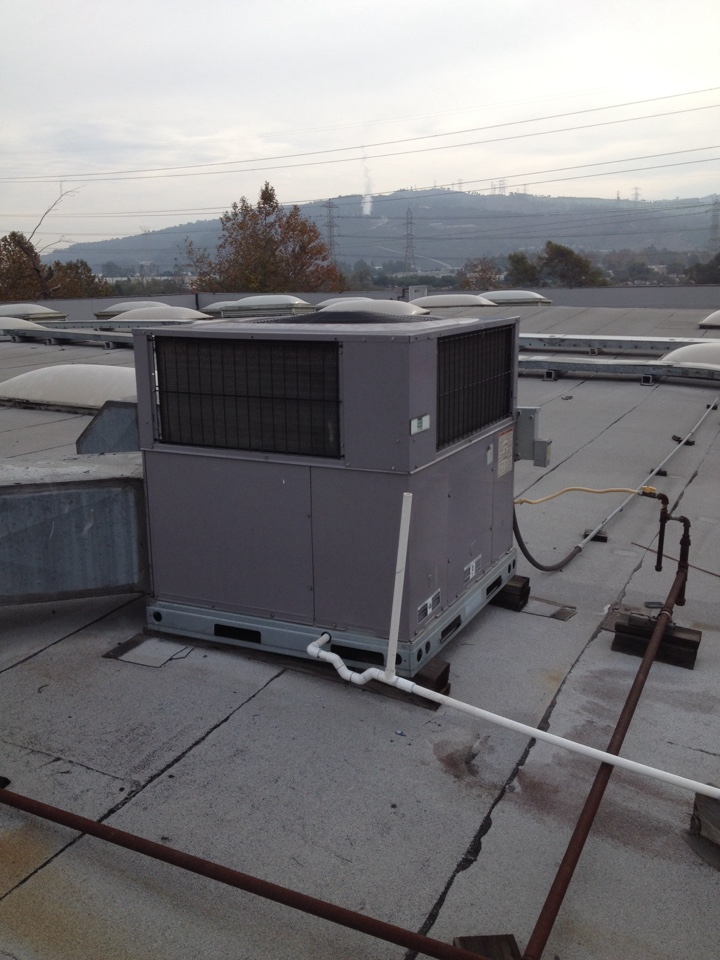 South El Monte, CA - Performing by annual maintenance service on day and night gas electric package unit