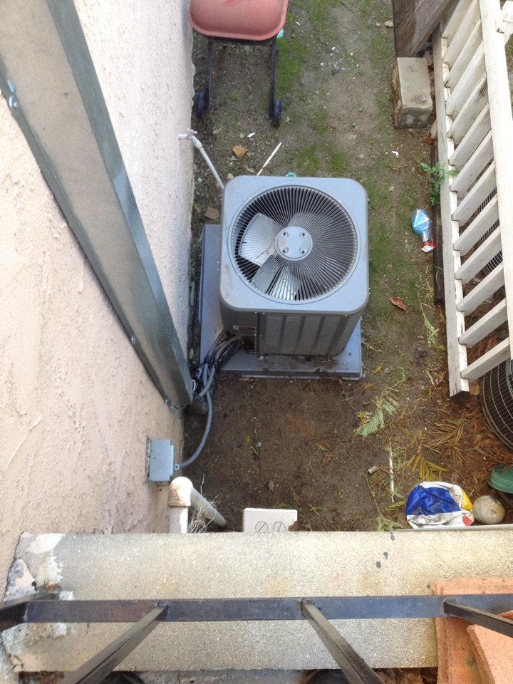 Rowland Heights, CA - Performing maintance service of Lennox air conditioner and furnace