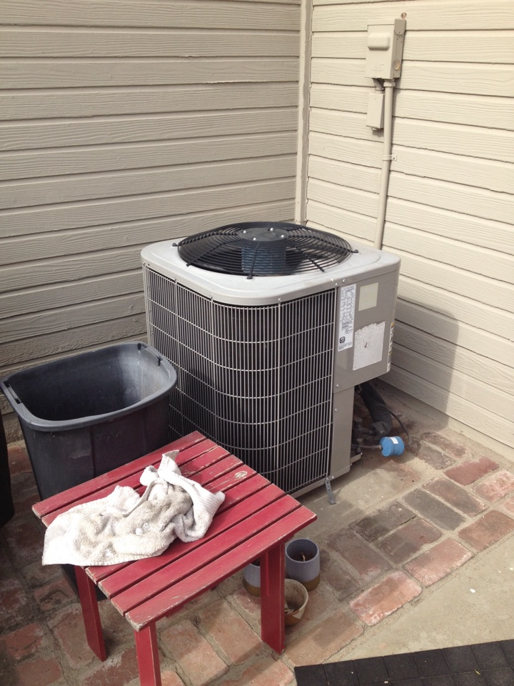 San Dimas, CA - Preforming by annual maintenance service on Bryant gas electric split heating and cooling unit