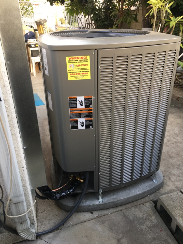 Temple City, CA - Installing a 4 ton Lennox split system with zoning