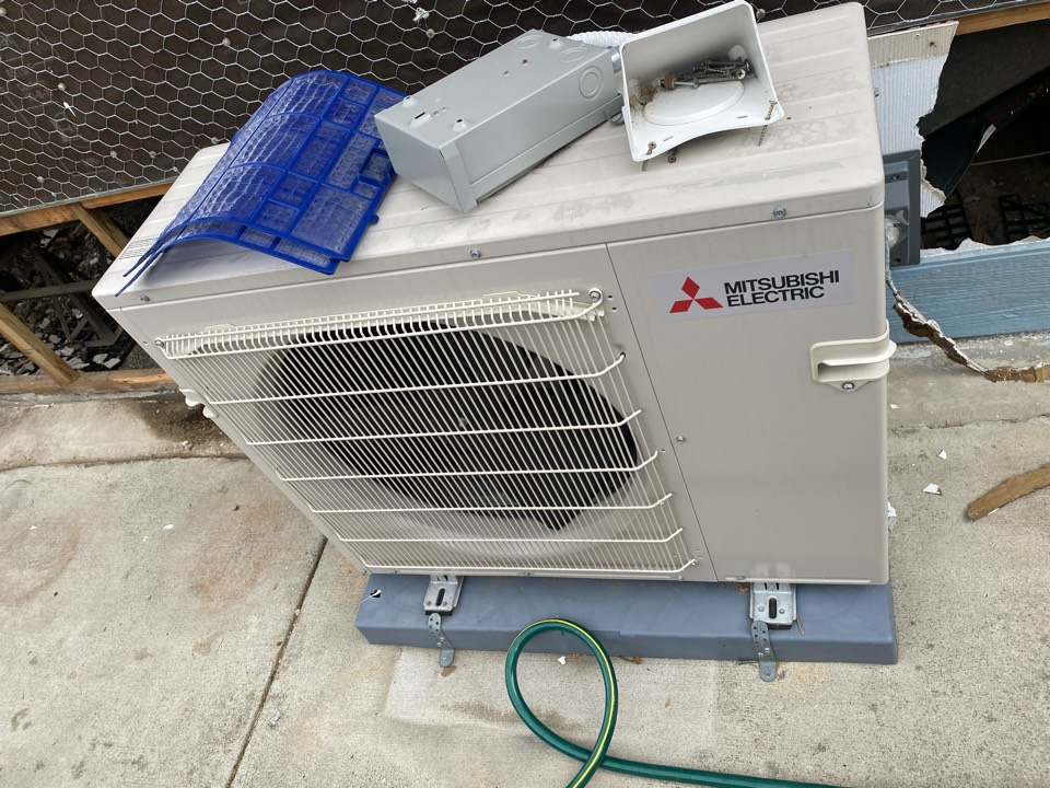Rowland Heights, CA - Serviced Mitsubishi heating and air conditioning system
