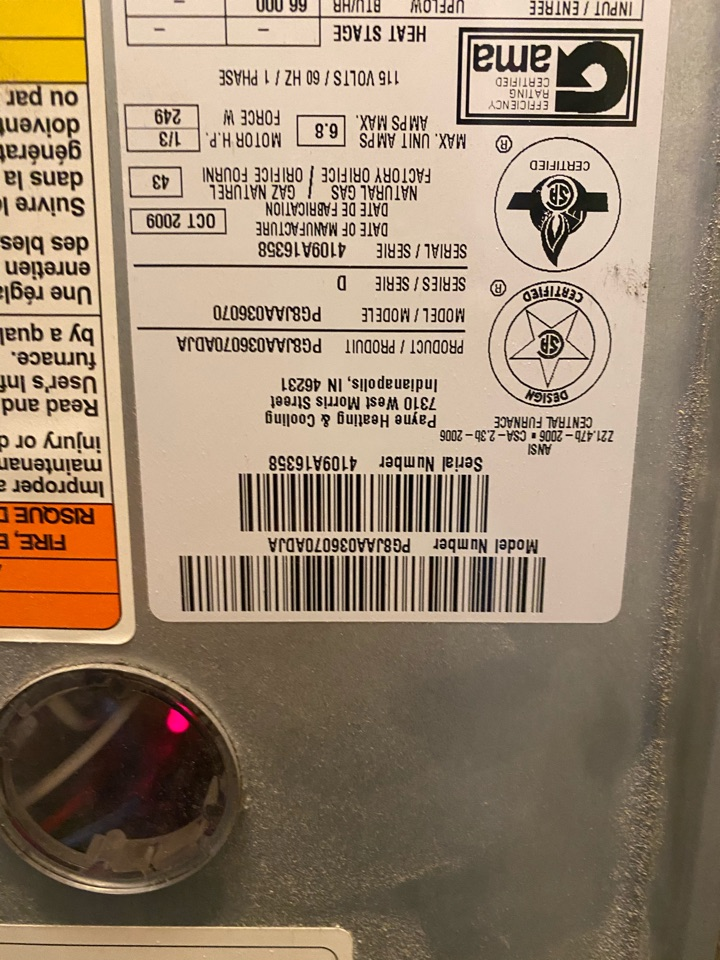 Los Angeles, CA - Repaired Payne heating system