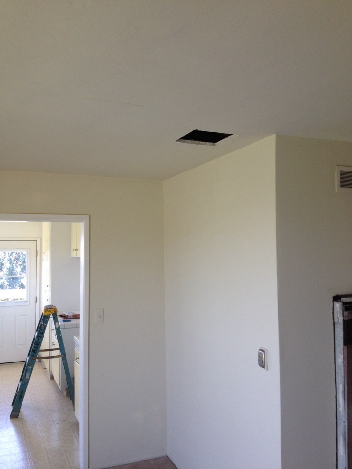Monterey Park, CA - Doing ceiling cut in for new 3.5 ton BRYANT furnace, condenser and coil