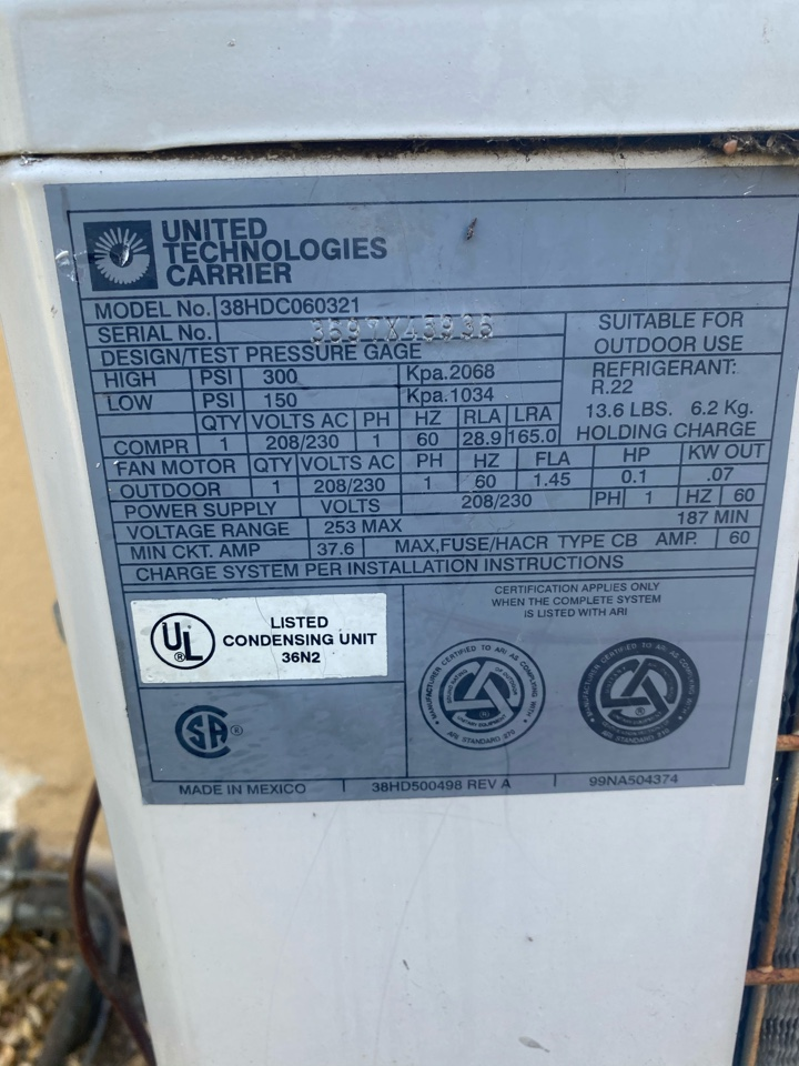 Altadena, CA - Serviced carrier heating and air conditioning system