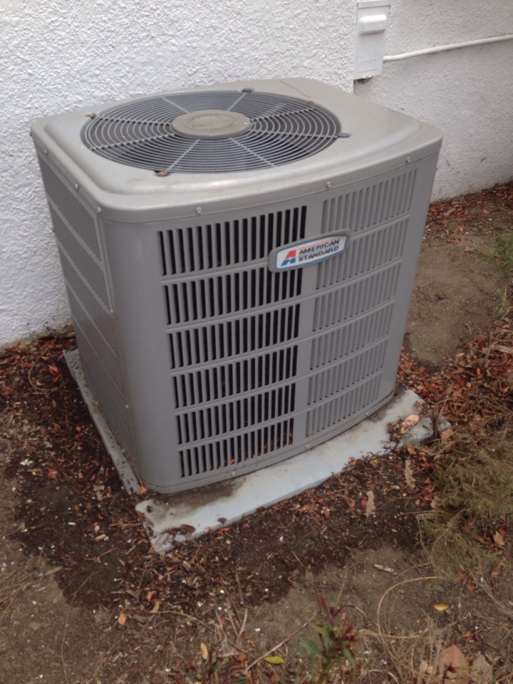 El Monte, CA - For preventive maintenance on American Standard split system