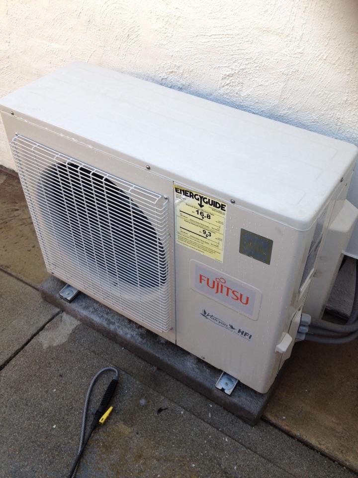 Rosemead, CA - Performing maintenance inspection on Fujitsu ductless mini split system
