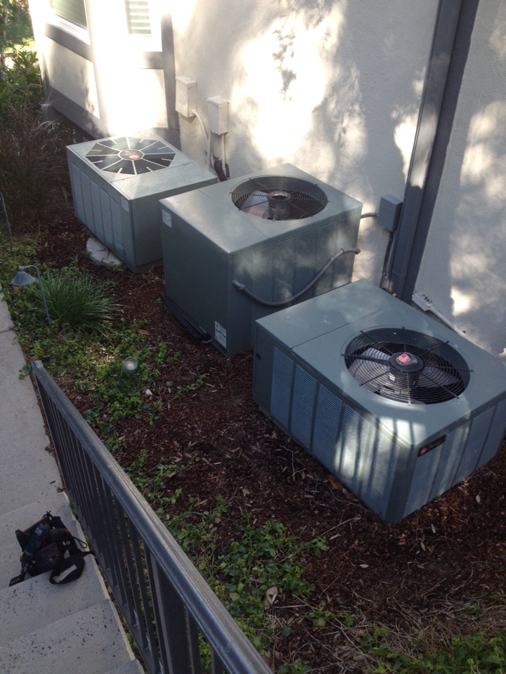 Santa Ana, CA - Perform maintenance service on three Rheem heating and cooling systems