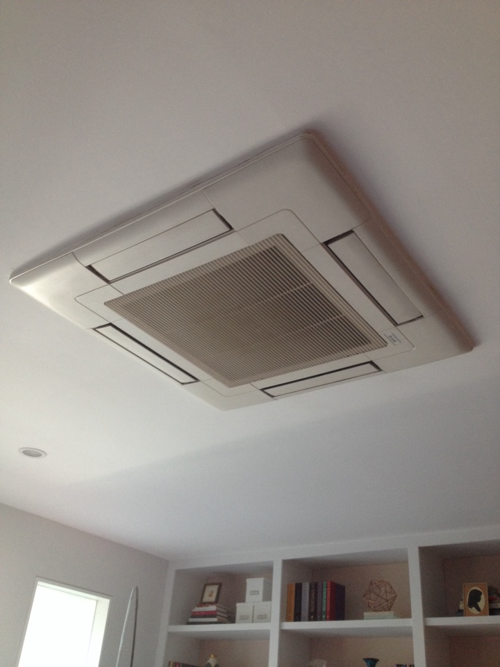 West Hollywood, CA - Perform maintenance service on Mitsubishi ductless split system with ceiling cassette