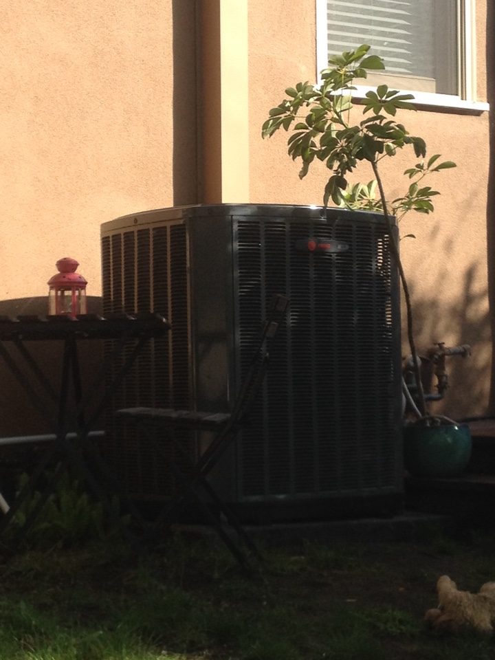 Santa Monica, CA - Performing maintenance service on train heating and air-conditioning system