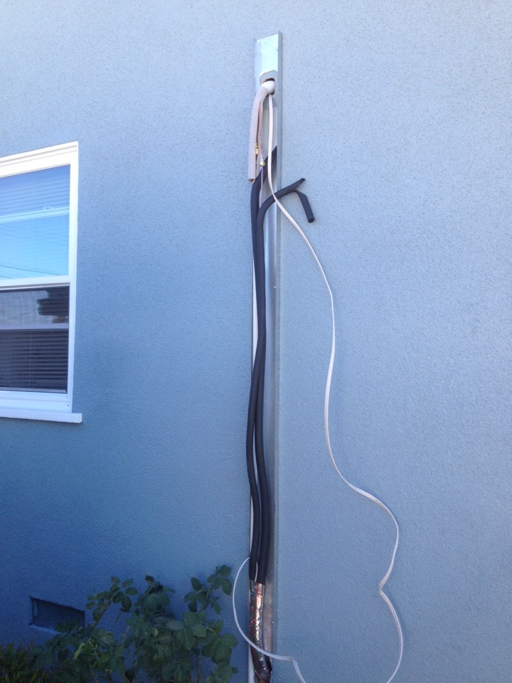 Gardena, CA - Installing MITSUBISHI ductless  system with 19 SEER condenser