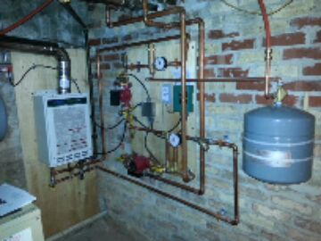 replace boiler heat new boiler install system heat is on