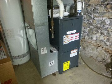 replaced carrier furnace installed goodman 96 furnace