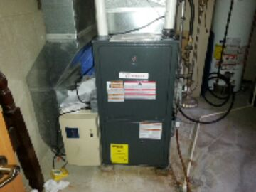 install new goodman 2 stage Nat gas furnace replaced bryant failed heat exchanger