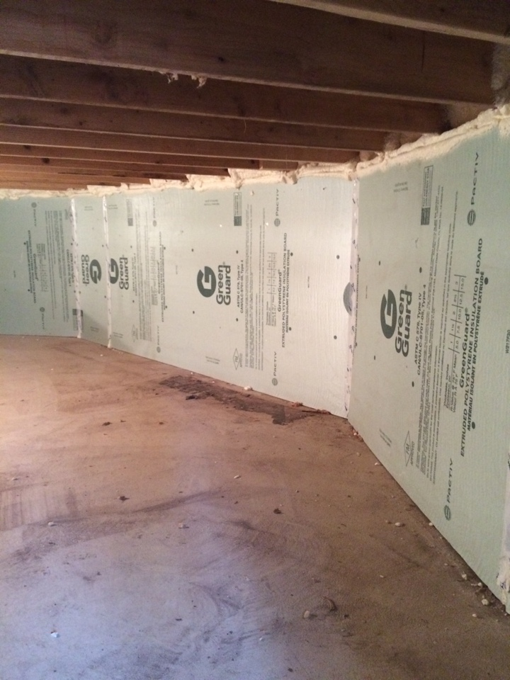 Laingsburg, MI - Insulating and air sealing a crawl space with ridged foam board and spray foam!