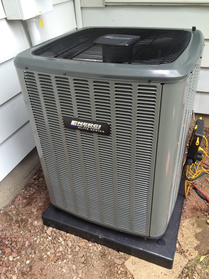 Mason, MI - Providing the customer high quality ac and furnace info. And setting up his installation.