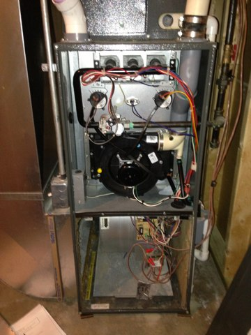 Windsor Charter Township, MI - Furnace repair maintenance call to clean and check furnace