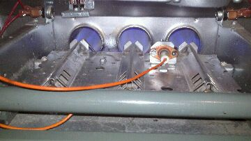 Bath, MI - Lennox furnace repair. Ignitor replaced & gas orifices cleaned.