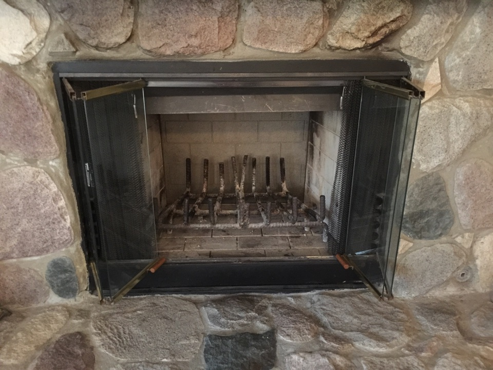 Grand Ledge, MI - Fireplace repair and clean and check furnace