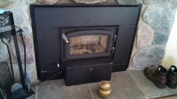 Eaton Rapids, MI - Regency wood burning fireplace insert installation