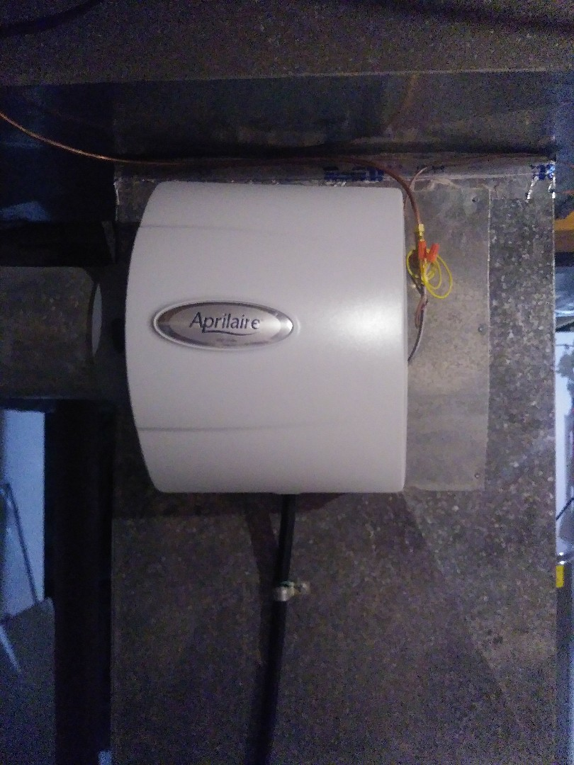 Aprilaire automatic humidifier installation