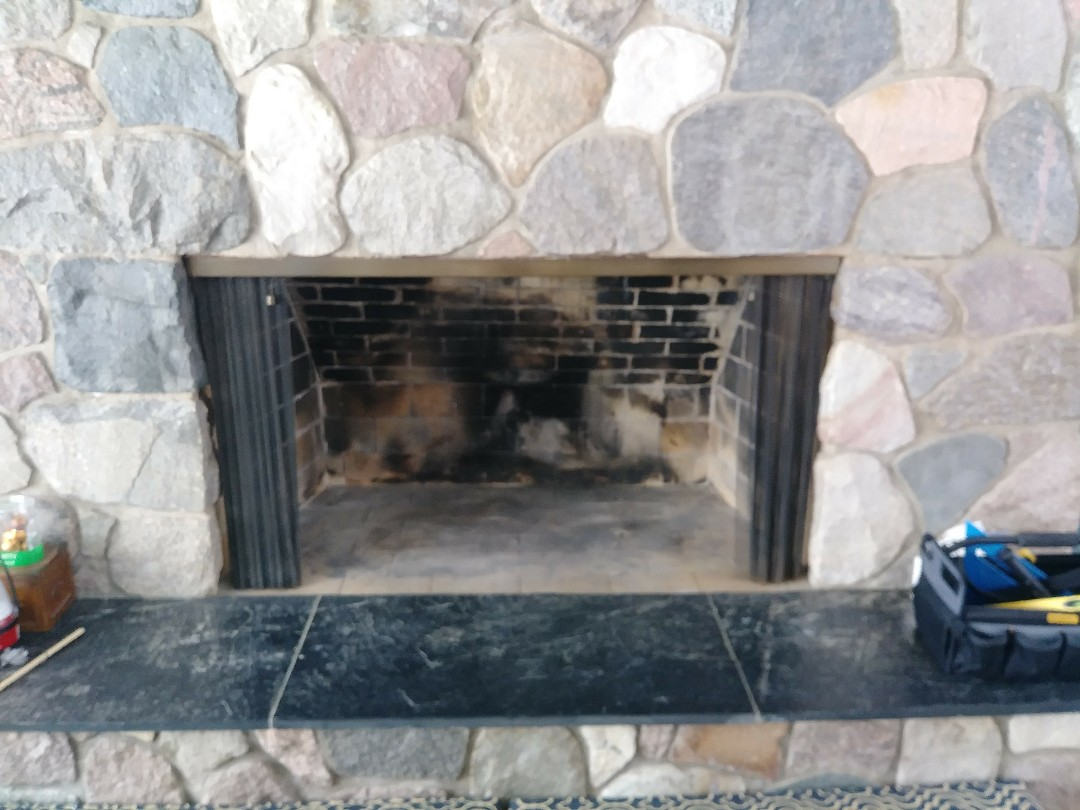 East Lansing, MI - Removed gas log from fireplace