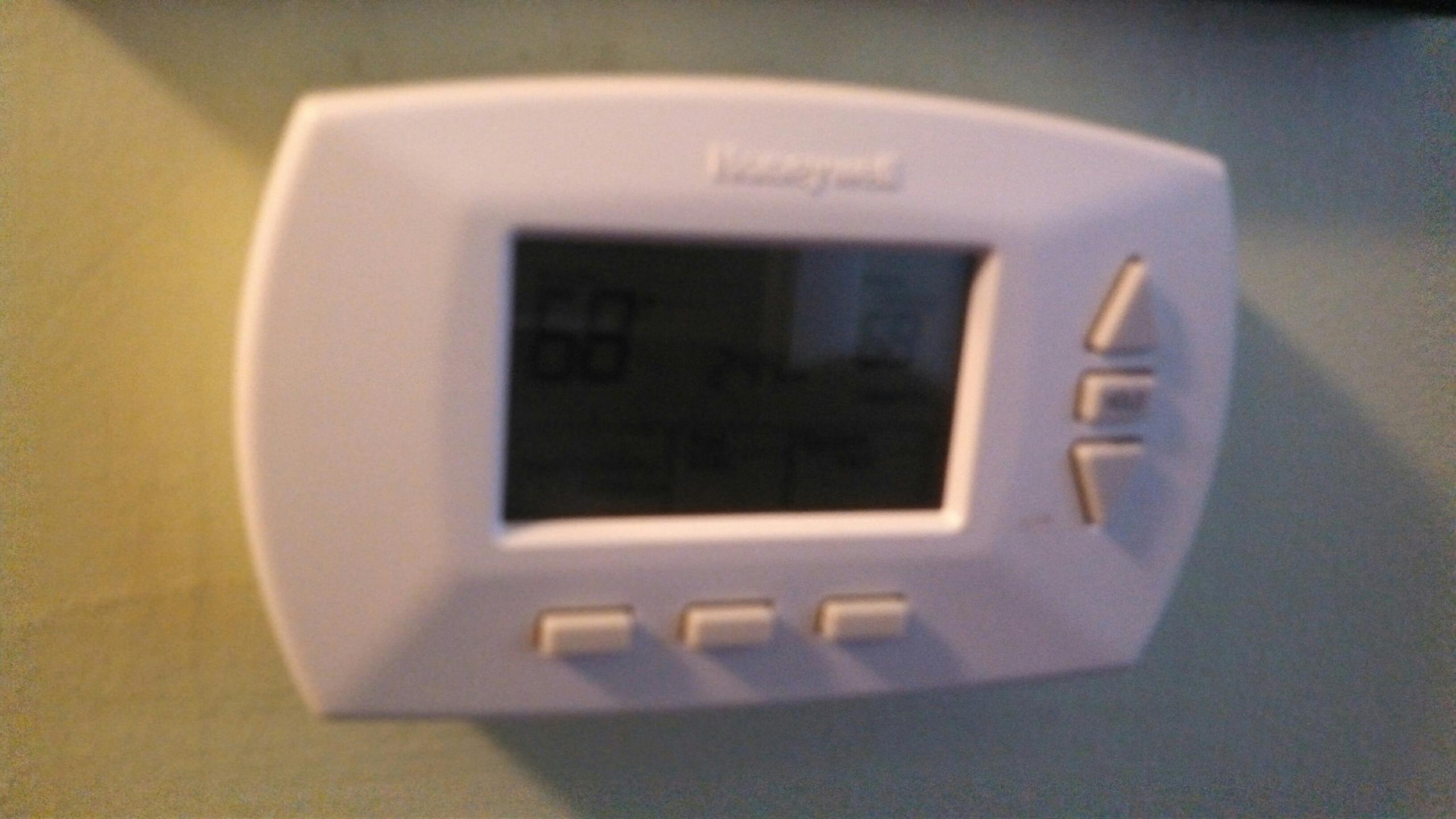 Grand Ledge, MI - Honeywell thermostat installation.