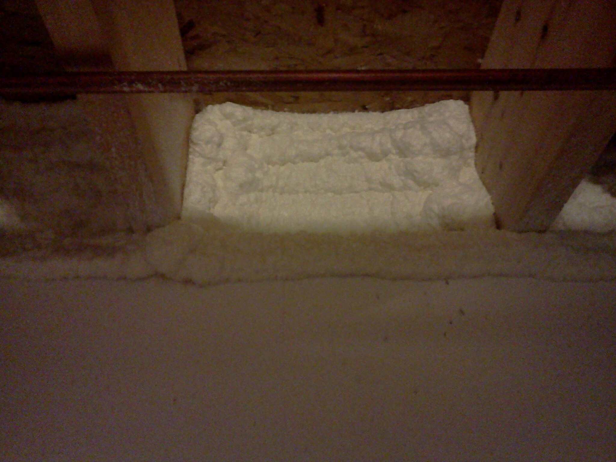 Williamston, MI - Installation of attic insulation